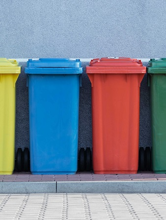 colour waste bins